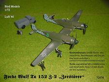 """Focke Wulf TA 152 z-2 """"distruttore"""" 1/72 Bird models rimodellamento tasso/CONVERSION"""