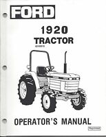 FORD NEW HOLLAND 1920 TRACTOR OPERATOR MANUAL 42192010 *