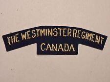 INSIGNE BADGE COMMONWEALTH THE WESTMINSTER REGIMENT CANADA