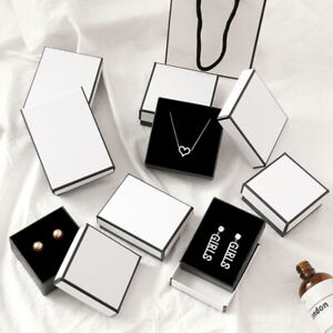 White Jewelry Gift Box For Ring Necklace Bracelet Earring Watch Small PresentHN