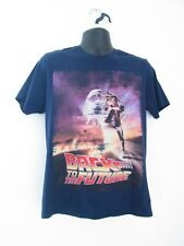 Back To The Future Men's Navy Blue T-Shirt Size S