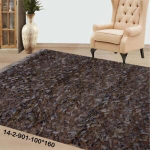 Modern floor rugs Leather Shag Area Carpet Anti-slip fluffy rugs online AU 14-2