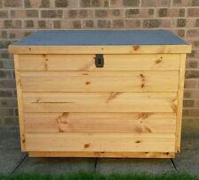 Lockable Timber wooden Garden store Boot Box wellies Store salt parcel storage