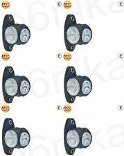 6x White/Red/Amber LED Truck Lorry Trailer Side Outline Marker Lights Lamps 24V