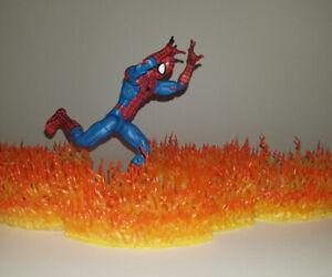 Flame stand props for Action Figure Displays - Marvel Legends, Mezco, DCUC