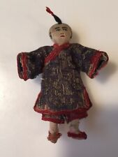 New ListingSmall Vintage Oriental Cloth Bendy Doll—Early 1900's (?)
