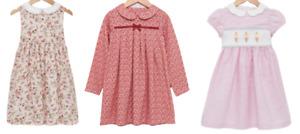 TROTTERS GIRLS DRESS - HANNAH ROSE/RED LUCINDA/ICE CREAM PINK DRESS - New