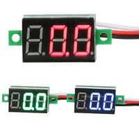 Three Wires Mini Digital Diaplay Voltmeter DC0-100V LED Volt Voltage Panel Meter