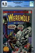 1975 Marvel Comics WEREWOLF BY NIGHT CGC 9.2, 1st App. & Origin of MOON KNIGHT