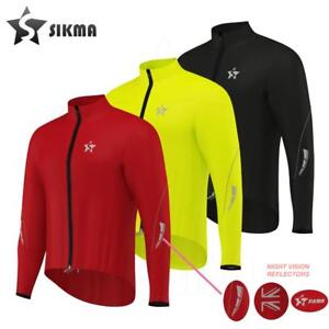 Mens Cycling rain Jacket High Visibility Waterproof Running Top Coat S to 2XL
