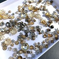 VINTAGE MODERN BEAD CAPS FINDINGS LOT FOR JEWELRY MAKING CRAFTING USE