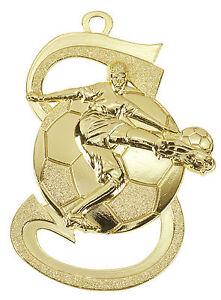 10 Fussball-Medaillen mit Deutschland-Bändern