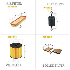 WIX DE AIRE Y DE POLEN ACEITE Y COMBUSTIBLE Kit Servicio De Filtro WA9735,WP9257