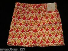 NWT Gymboree PLAY BY HEART Pink, Yellow, White Scribble Heart Skirt 5