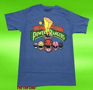 Mighty Morphin Mens Power Rangers Black Ranger Shirt New S,M,L,XL,2XL