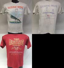 Vintage Lot of Mackinac Michigan Suspension Bridge Shirts Size Large