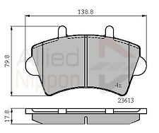 ALLIED NIPPON BRAKE PAD SET FRONT FITS NISSAN OPEL RENAULT VAUXHALL CAX796