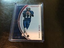 2016 Panini Immaculate Collegiate Tony Romo Base 18/25 Dallas Cowboys