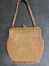 "1930S Gorgeous Beaded Bag-Fringe, Jeweled Handle Tagged ""Rich'S"" Atlanta"