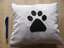 Kissen für Hund Katze Puppe hell beige Pfoten 20x18x8