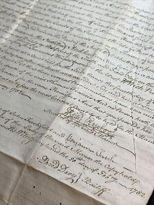 1702 LARGE ENGLISH MANUSCRIPT