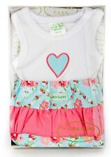 Baby Girl Gift Box Pretty Singlet Pants Set with Flowers, Baby Shower Gift