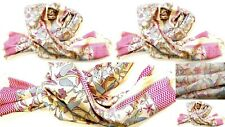 "4 WHOLESALE LOT ART SILK TRIBAL SCARF WRAP SHAWL MADE IN INDIA 84""X40"" SET OF 4"