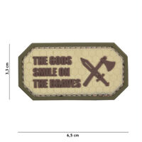 Morale Patch 3D PVC The Gods smile on the braves coyote AIRSOFT PARCHE SOFTAIR