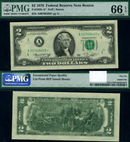 FR. 1935 A* $2 1976 Federal Reserve Note Boston A-* Block Gem PMG CU66 EPQ Star
