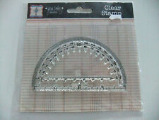"""Jenni Bowlin ~ AS716 Protractor Clear Stamp 4"""" x 2 1/4""""  ~ Q9"""