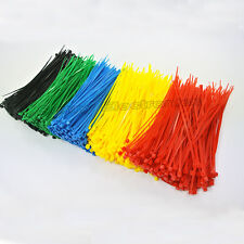 "300 Pcs 6 Color 6"" inch 2X150 (mm) colorful Self-Locking Plastic Cable Zip Ties"