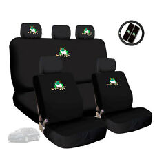 New Semi Custom Frog Logo Seat Covers w Steering Wheel Cover Set for Kia