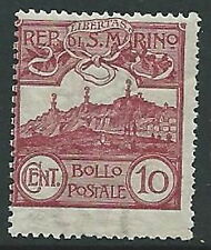 1903 SAN MARINO VEDUTA 10 CENT MNH ** - M18-2