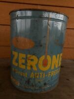 Very Rusty Zerone Dupont Blue Can Anti Freeze Gas Oil Collector Holes in bottom