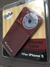 NEW RETRO VINTAGE iPHONE 5 EASY SNAP ON COVER CASE SHELL RADIO 8 TRANSISTORS