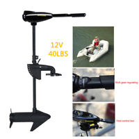 Electric Outboard Engine 408W Thrust Trolling Motor Fishing Boat Motor 40LBS 12V