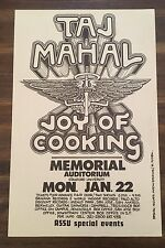 Taj Mahal - Vintage Poster - Randy Tuten Signed, Stanford University 1973