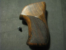 Ruger LCR Series French Walnut Checkered+Back+LOGO Pistol Grips NEW DESIGN!