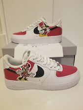 Nike Air Force 1 One Custom Disney Mickey & Minnie Mouse Painted Sneakers Sz 9.5