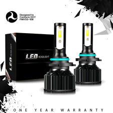 Pair 9006 HB4 LED Headlight Bulb Whih Cooling Fan 6000K Light KIT HID High Power