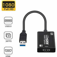 HD 1080P 4K HDMI To USB 3.0 Video Capture Card Dongle For Live Streaming Game
