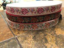 "150 yd New 3 pc Lot Floral Tapestry Jacquard Ribbon Cotton Trim 1"""