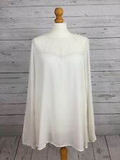 Yessica From C&A Women's White Long Sleeve Blouse Top With Lace Detail UK 16