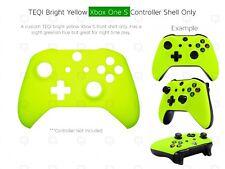 Nuevo controlador de Xbox One S Amarillo Suave Carcasa frontal concha único Mod Personalizado