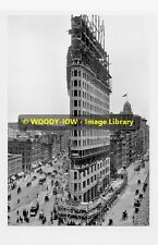 rp4517 - Flatiron Building being built New York c1902 - photo 6x4