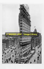rp4517 - Flatiron Building being built New York c1902 - photo 6x4