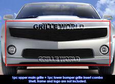 2010-2013 Chevy Camaro SS V8 Phantom Black Billet Grille Insert Combo
