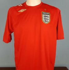 Authentic England 2006-08 Away Shirt Size Large Umbro Red World Cup (016)