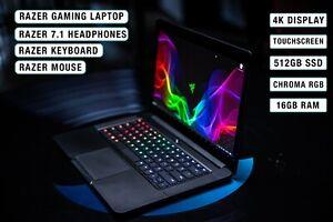 "GAMING LAPTOP - Razer 14"" 4K Touchscreen - Keyboard- Mouse- Headphones"
