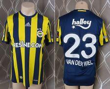 Match worn / issue Fenerbahce 2016-17 home shirt adidas jersey Van der Wiel 23